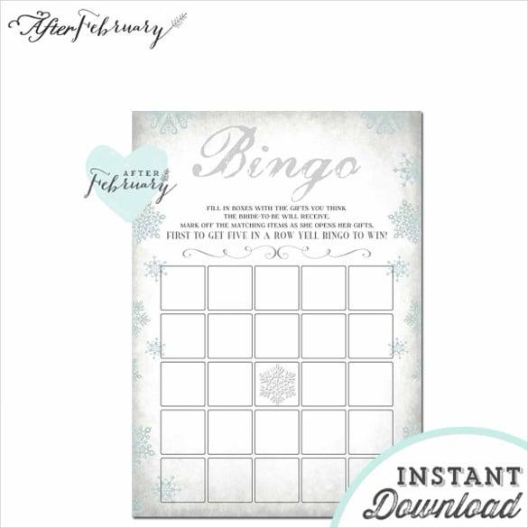 Blank bingo template 15 free psd word pdf vector eps format winter gray snowflake blank bingo card pronofoot35fo Image collections