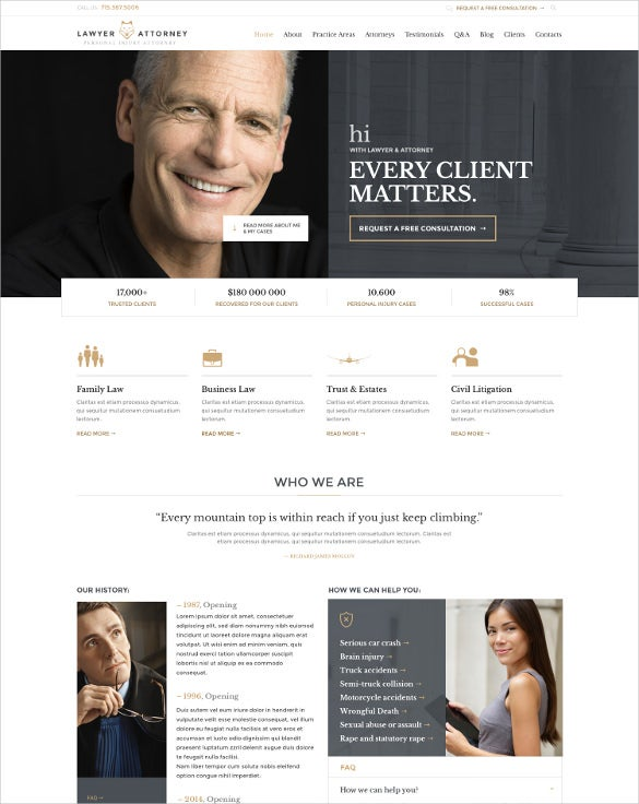 law legal office responsive wordpress theme
