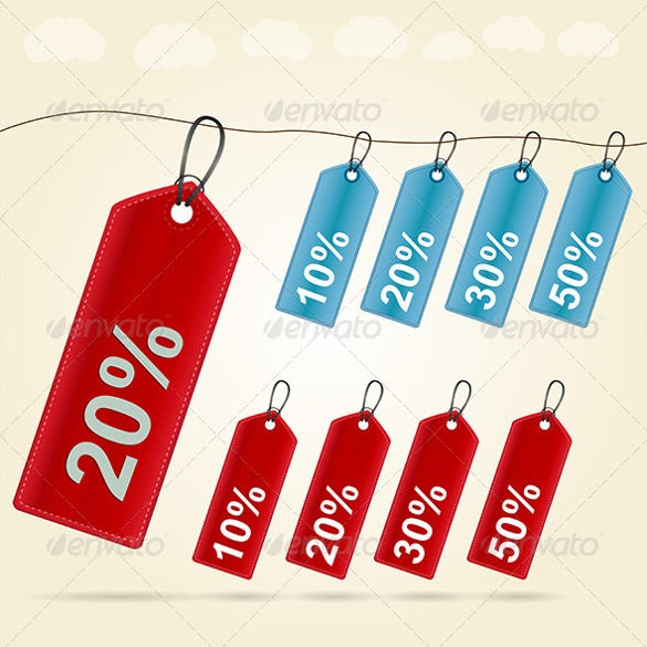illustration of price tag template download