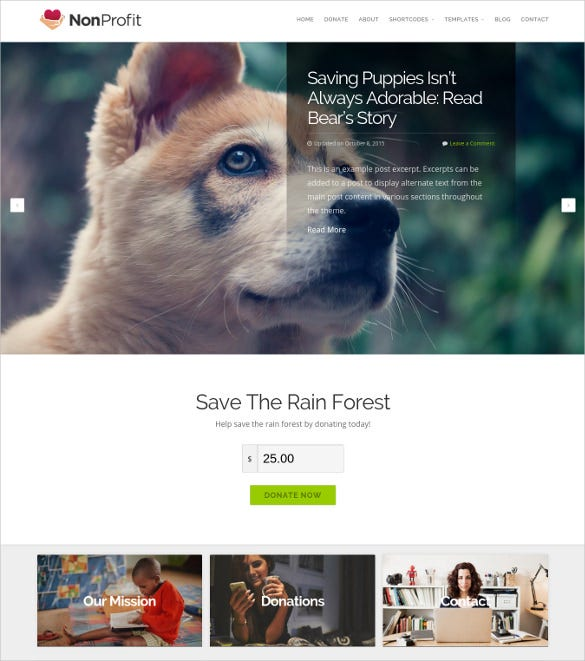 responsive imstant nonprofit wordpress theme
