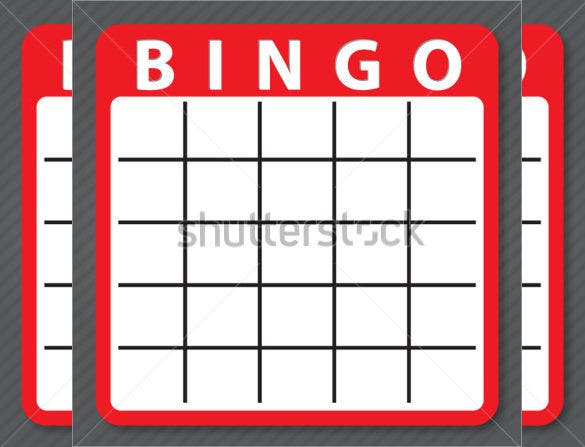 blank red colour bingo