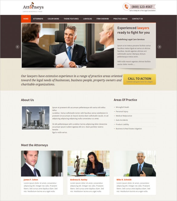 responsive law legal wordpress theme