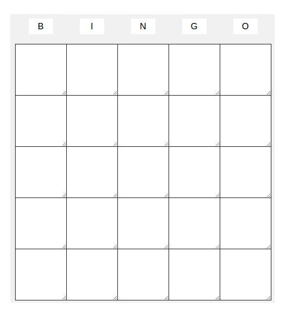 Blank Bingo Template   Free Psd Word Pdf Vector Eps Format