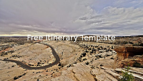 freeitinerarytemplate