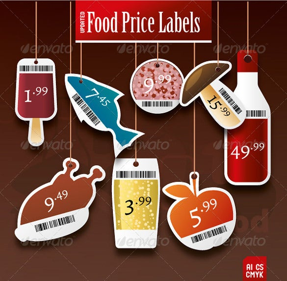 food price tag template download ai illustrator format