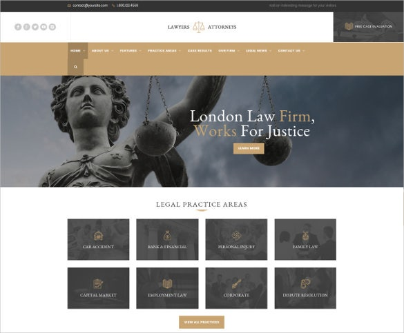 a law legal office wordpress theme