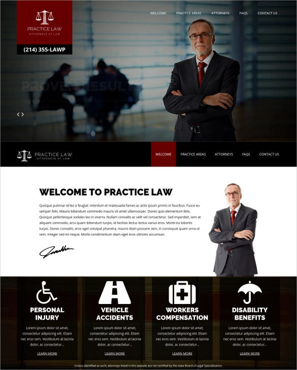 practice law legal wordpress attorney theme