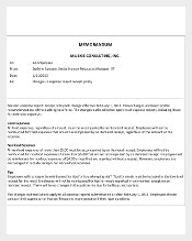 Business Memo Template Free PDF Document Download