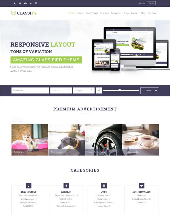 corporat6e business classified ads wordpress theme