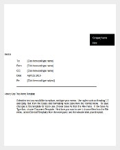 Professional Business Memo Word Document Download