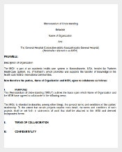 Memorandum Of Understanding Between Company and Individual Word Document