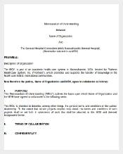 Memorandum Of Understanding Between Company and Individual Word Document