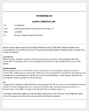 Professional Business Memo Template PDF Download