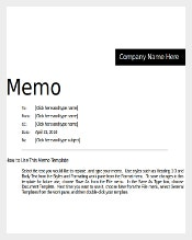 Simple Professional Memo Template