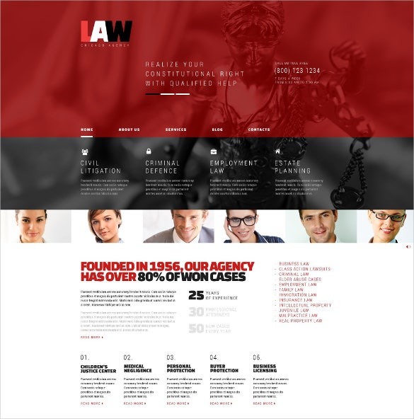 simple law legal wordpress theme