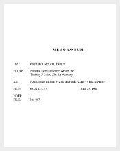 Legal Memo Template for Health Care Organization PDF Download