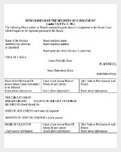 Memo for Registry of a Legal Judgement Document Download in MS Word