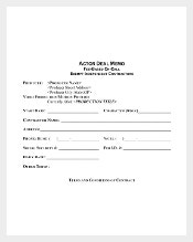Actor Deal Memo Template PDF Format Download