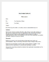 Simple Policy Memo Template