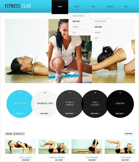 premium fitness wordpress twmplate