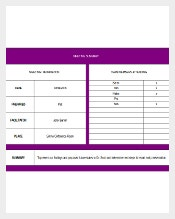 Meeting Executive Memo Template MS Excel Download