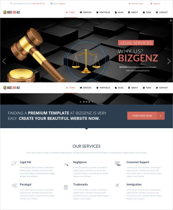 premium law legal html 5 wordpress template
