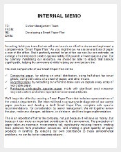 Free Download Internal Memo Doc Template