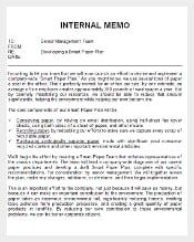 Free Download Internal Memo Doc Template