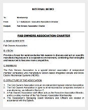 Free Fab Owners Association Internal Memo Template Printable