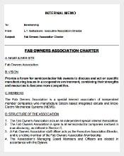 Free Fab Owners Association Internal Memo Template Printable