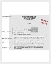 Sample PDF Company Business Memo Template Download