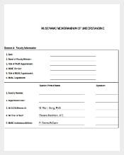 Blank Memorandum of Understanding Template Excel Download