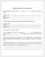 Memorandam of Comany Agreement PDF Document Free Download