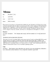 Company Audit Memo Template Download in PDF