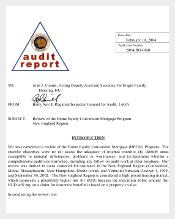 Report for Audit Memo Template PDF