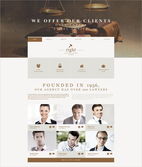 law legal firm muse wordpress template