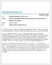 Email Encryption Memo Download in PDF Format