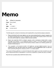 email policy memo template download in pdf