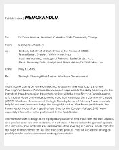 State Community College Strategy Memo Template PDF
