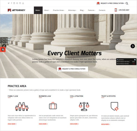 law legal service wordpress theme