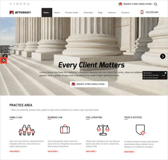 law legal service wordpress theme