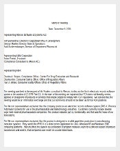 Mandatory Meeting Memo Word Document Download