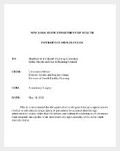 Ambulatory Surgery Interoffice Memorandum Template Download in PDF