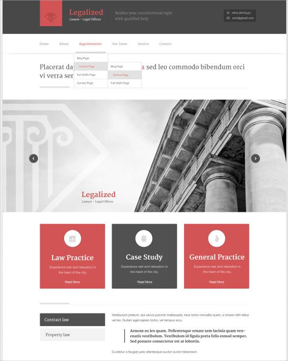 law legal modern business wordpress theme