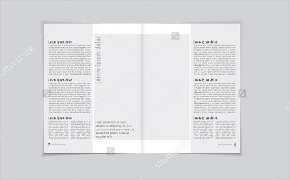 vector newspaper layout brochure