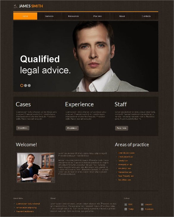 law legal wordpress moto cms html template