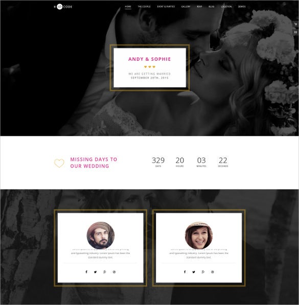 responsive multipurpose wordpress wedding template