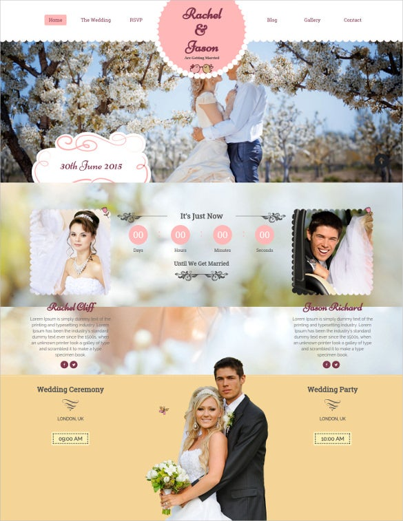 enlance wedding event wordpress theme