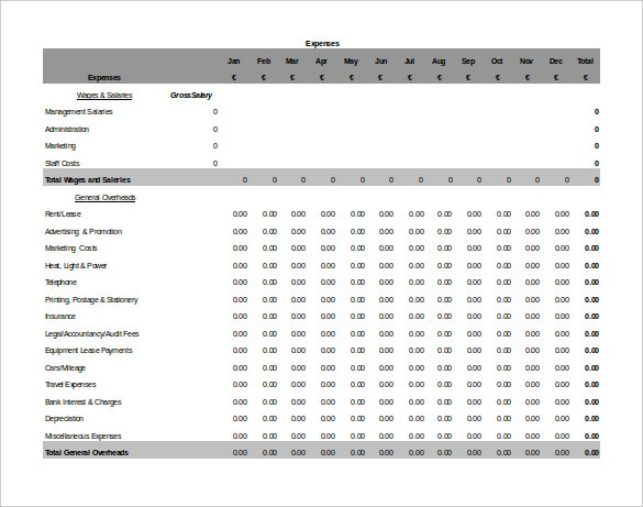 Accounting Spreadsheet Template - 6+ Free Excel, PDF Documents ...