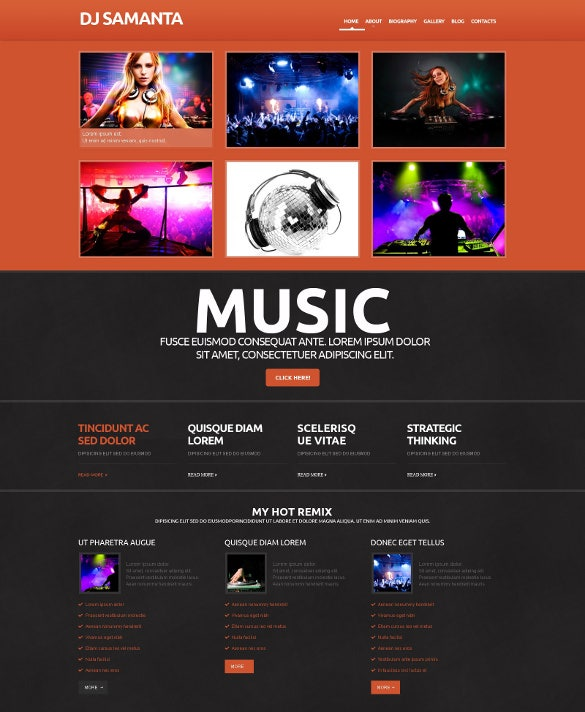 premium music dj responsive wordpress theme
